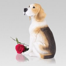 Happy Beagle Dog Cremation Urn