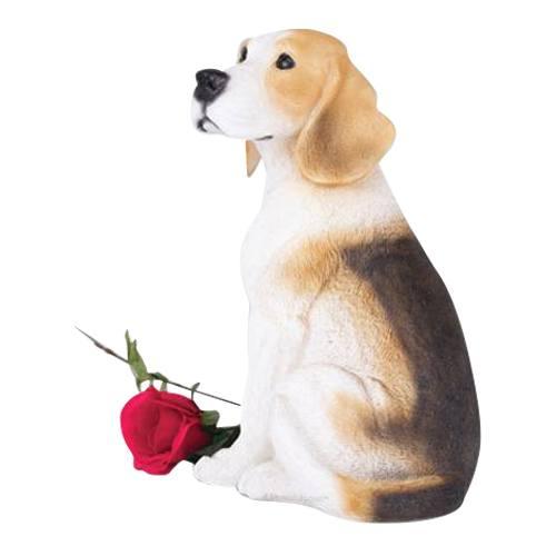 Happy Beagle Dog Cremation Urn