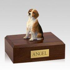 Beagle Sitting Large Dog Cremation Urn