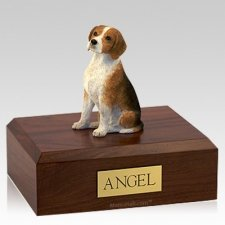 Beagle Sitting Dog Cremation Urns