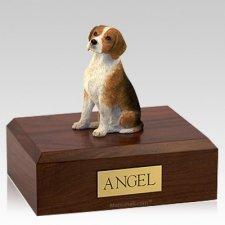 Beagle Sitting X Large Dog Cremation Urn