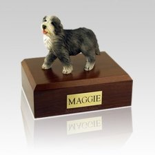Bearded Collie Large Dog Urn