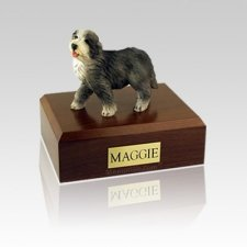 Bearded Collie Medium Dog Urn