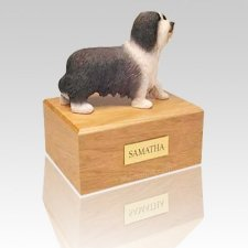Bearded Collie Standing X Large Dog Urn