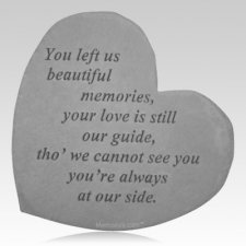 Beautiful Memories Heart Stone