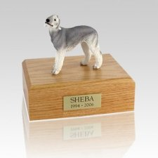 Bedlington Terrier Gray Large Dog Urn