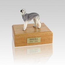 Bedlington Terrier Gray Small Dog Urn