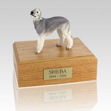 Bedlington Terrier Gray X Large Dog Urn