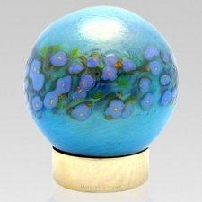 Bellflower Glass Keepsake Urn