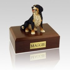 Bernese Mountain Sitting Large Dog Urn