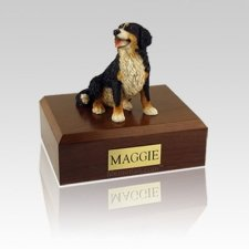 Bernese Mountain Sitting Medium Dog Urn