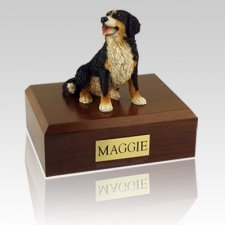 Bernese Mountain Sitting Dog Urns