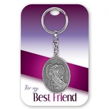 Best Friend Angel Keychain