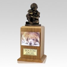 Best Friend Dog Oak Cremation Urn