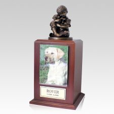 Best Friend Dog Walnut Large Cremation Urn