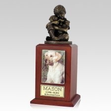 Best Friend Dog Cherry Large Cremation Urn