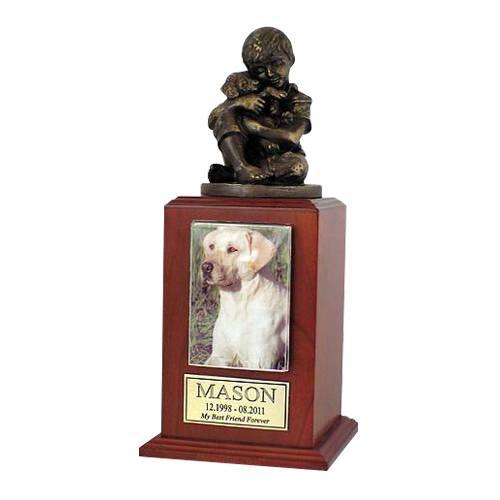Best Friend Dog Cherry Large Cremation Urn