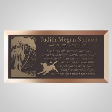 Best Friends Dog Bronze Plaque