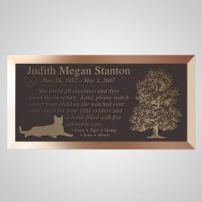 Best Friends Cat Bronze Plaque