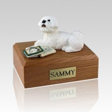 Bichon Frise Laying Dog Urns