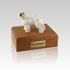 Bichon Frise Standing Medium Dog Urn