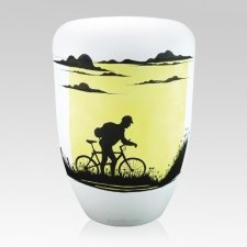 Bicycling Biodegradable Urn