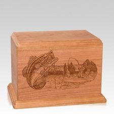 Big Bass Individual Cherry Wood Urn