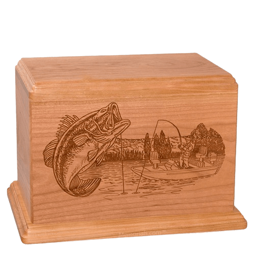 Big Bass Companion Cherry Wood Urn