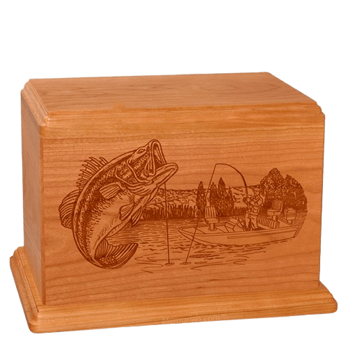 Big Bass Companion Mahogany Wood Urn