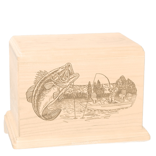 Big Bass Companion Maple Wood Urn