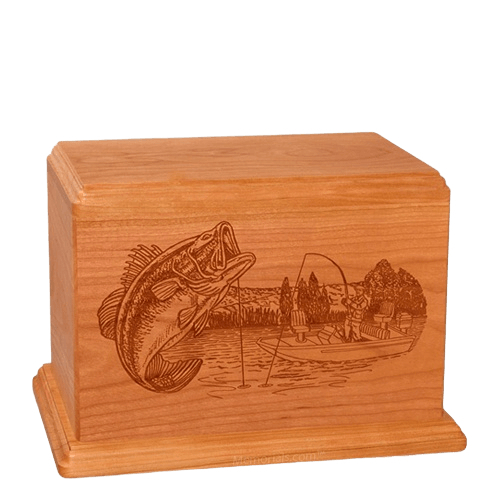 Big Bass Individual Mahogany Wood Urn