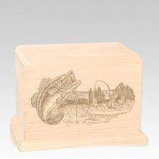 Big Bass Individual Maple Wood Urn