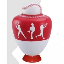 Big League Red Cremation Urn