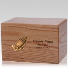Big Prayer Wood Cremation Urn