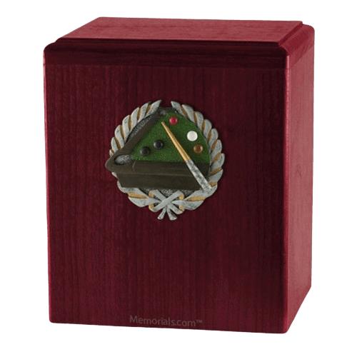 Billiard Rosewood Cremation Urn