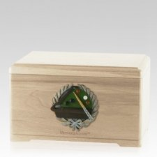 Billiards Maple Cremation Urn