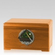 Billiards Oak Cremation Urn
