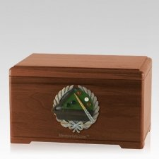 Billiards Walnut Cremation Urn