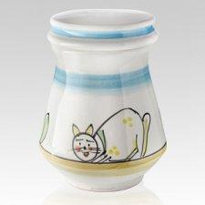 Birichino Ceramic Cat Urn