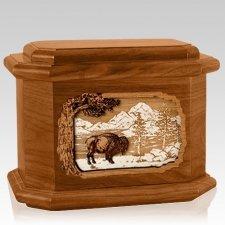 Bison Mahogany Octagon Cremation Urn
