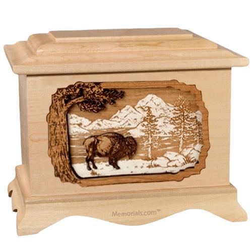 Bison Maple Cremation Urn