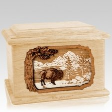 Bison Maple Memory Chest Cremation Urn