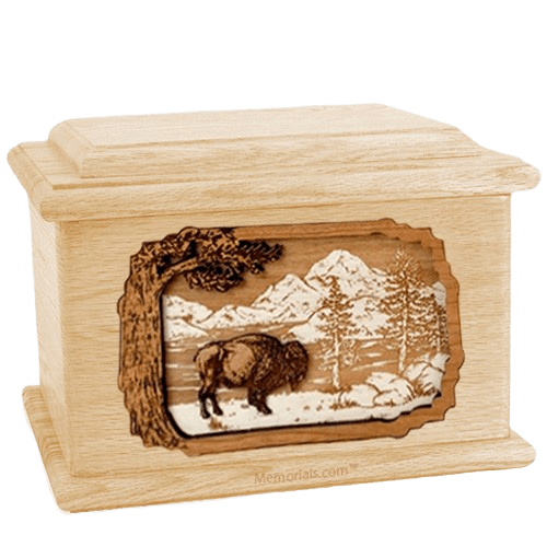 Bison Maple Memory Chest Cremation Urn