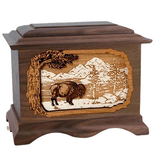 Bison Walnut Cremation Urn