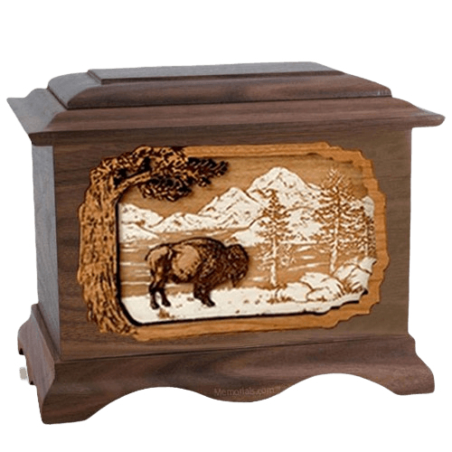 Bison Wood Cremation Urns