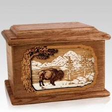 Bison Walnut Memory Chest Cremation Urn