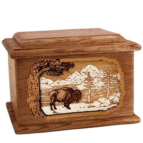 Bison Walnut Memory Chest Cremation Urn