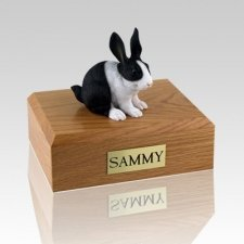 Black & White Rabbit Cremation Urns
