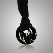 Black Hair Memorial Necklace