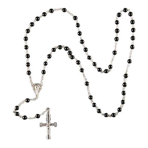 Black Agate Cremation Rosary